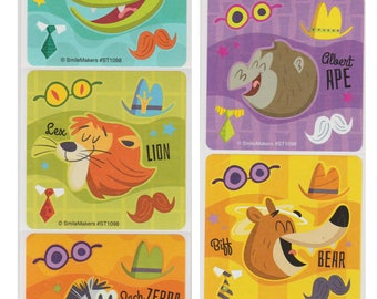 """20 Make-Your-Own Animal Stickers, 2.5"""" x 2.5"""""""