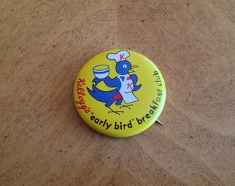 Kellogg's Early Bird Breakfast Club Button