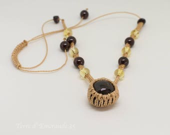 Garnet Citrine necklace
