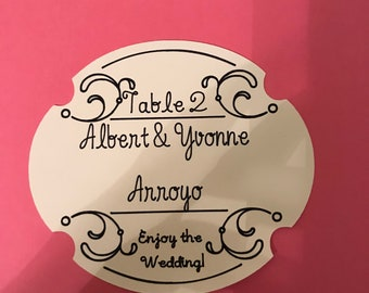 Event Table Place Cards