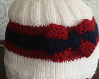 Children's beanie, knit cap, women's cap, Slouchy beanie, winter cap, girl cap loop