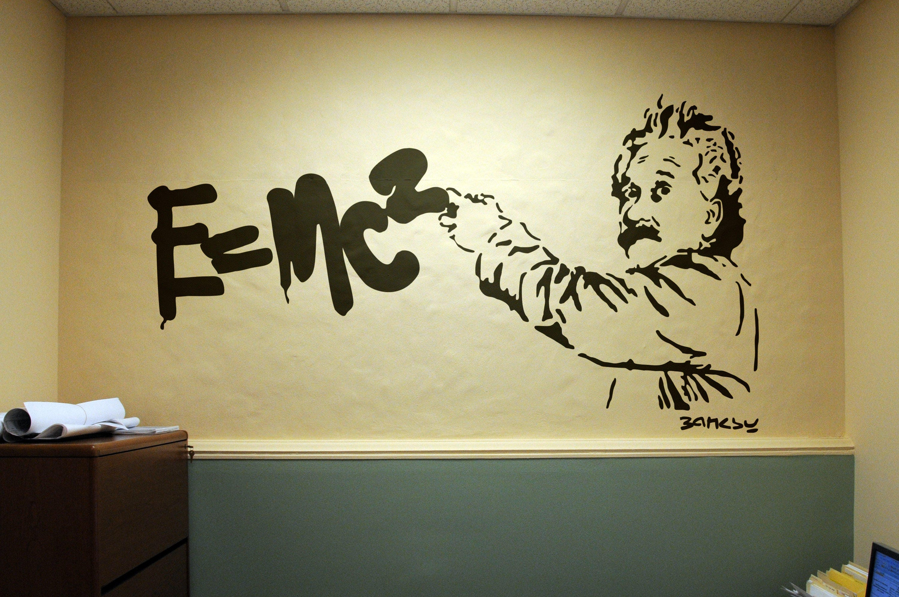 Banksy version of Einstein Theory of Relativity, Wall Decal Sticker ...