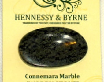 TWO Handcrafted Connemara Marble 'Worry Stones'