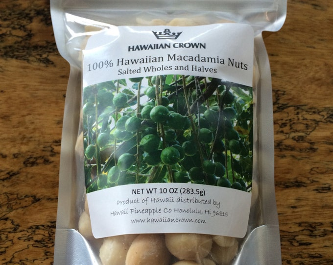 Salted Hawaiian Macadamia Nuts- 10oz