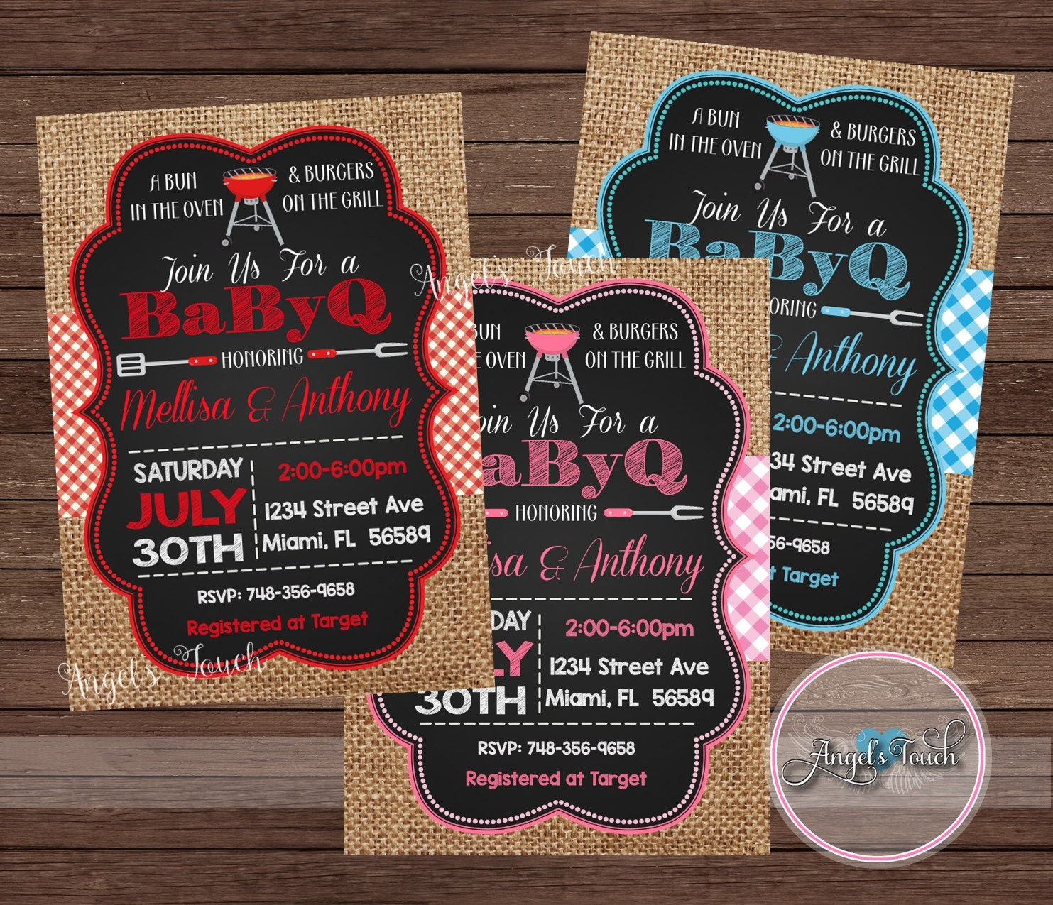 BBQ Baby Shower Invitation, Picnic Baby Boy Shower, BBQ Baby Shower ...