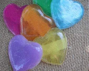 Small Heart-Shaped Soaps, set of six