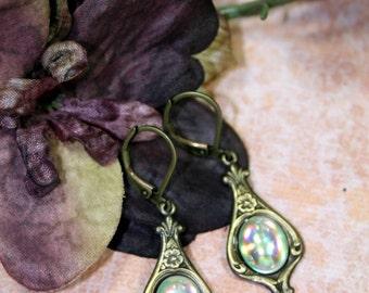 Frozen Magic Vintage Art Rose Earrings