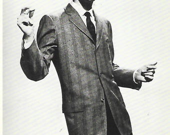 Buddy Holly an American Musician and Singer of Rock and Roll- Black and White Postcard