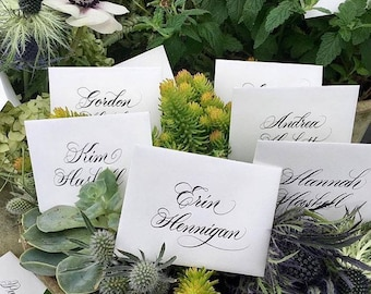 Professional Calligraphy on High Quality Crane & Co. Place Cards