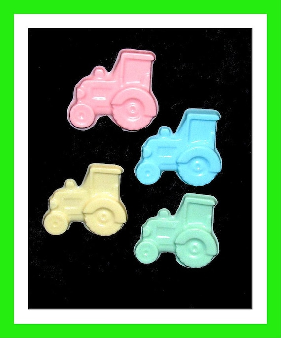 24 Tractor Soap Favors,Baby Shower Favors,Birthday Party Favors,Personalized Button Pin,Girl Birthday Favors,Boy Birthday Favors,Kid Soap