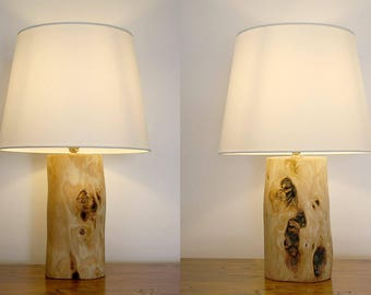 Bedside table lamps etsy set of 2 table lamps live edge olive wood bedside lamp small table mozeypictures Gallery