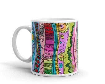 Mug decor Colorful custom mug Rainbow coffee cup with custom print Fullcolor mug 11 or 15 Fluid Ounces