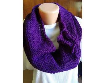 Ring scarf, ring crochet scarf, purple scarf, infinity scarf, infinity crochet scarf, crochet scarf, women gift, birthday gift, women scarf