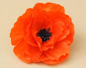 Orange Mexican Paper Flower Hair Piece | Paper Flower Hair Pin