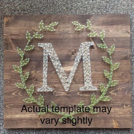Letter c laurel leaf monogram string art template spiritdancerdesigns Gallery