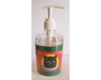 retro black cat soap dispenser vintage 1950s rockabilly bathroom decor kitsch