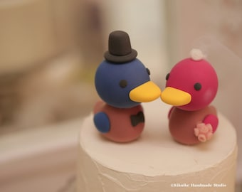 Korean Duck Wedding Cake Topper