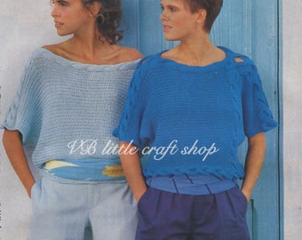 Two amazing lady's sweaters  knitting patterns. Instant PDF download!