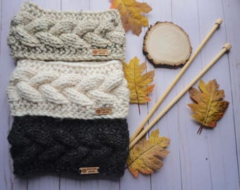 READY TO SHIP Cable Knit Earwarmer