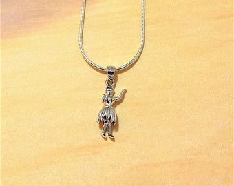 Hula Dancer Anklet, Sterling Silver Hawaiian Hula Girl Anklet, AK2015, Hawaii Anklet, Mother's Day Gift