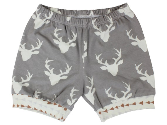 Buck Deer Baby Shorts Toddler Boy Shorts Triangle Shorts Toddler Boy Shorts Cuff Shorts Comfortable Baby Clothing Shorts Aztec Shorts