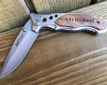 1st Fathers Day Gift For Husband Boyfriend Gift Fathers Day Gift Mens Personalized Knife Engraved Knife Personalized Gifts Anniversary Gifts