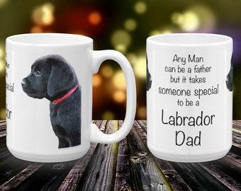 Black Lab Mug 3LD- Labrador Mug - Black Lab Gifts -Labrador Gifts - Lab Dog- Dog Dad - Lab Dad - Fathers Day - Black Dog Art - Black Lab Art