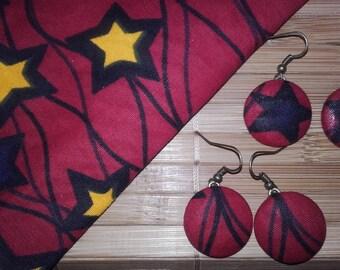 Earrings starry fabric WAX