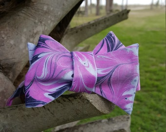 Self Tie Men's Bow Tie Bold, Magenta & Navy Blue Made in Asheville, NC MM-MagentaNavy