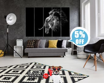 Lion Art Print, Lion art, Lion Art Decor, Wall Art Print, Black and white, canvas lion, lion canvas art, lion canvas decor, lion poster