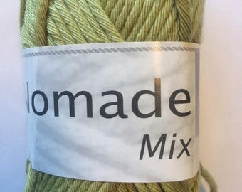 crochet thread cotton-acrylic Nomad MIX lime green color No. 278 white horse