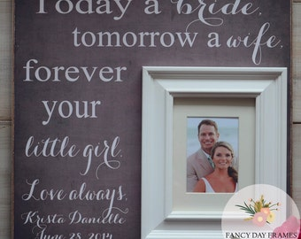 Mother Of The Bride Gift, Mother of the Bride Frame, Mother of the Bride Picture Frame, Parent Wedding Gift, 16x16 Frame