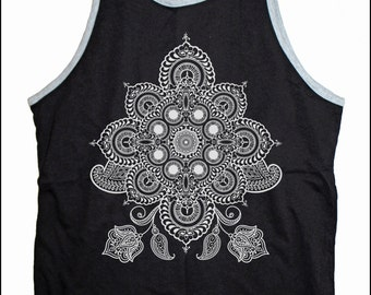 Men's REVEALS Psychedelic Mandala Tank Top Sacred Geometry Dotwork Tattoo Style Bro Tank