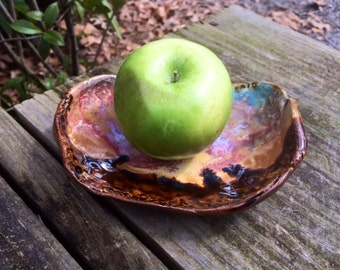Organic Soap Dish / Dip or Appetizer Server / Jewelry or Change Bowl