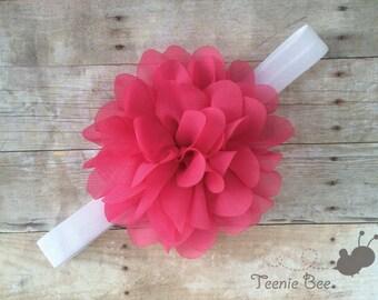 Pink Baby Headband - Baby Valentines Headband - Baby Headband - Baby Valentines Day Headband - Pink Newborn Headband