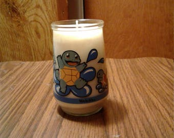 Squirtle Pokemon Jelly Jar Candle