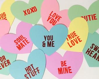 Conversation Heart Cutouts