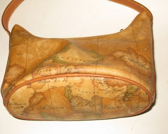 Vintage world maps canvas etsy alviero martini la classe world map vintage italian leather atlas coated canvas shoulder bag gumiabroncs Images