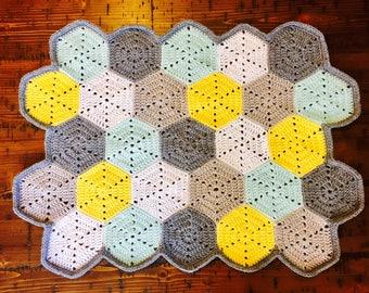 Hexagon Baby Blanket, Hobeycomb Blanket