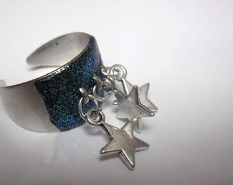 Ring support silver metal and its stars