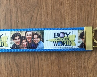 Boy Meets World Key Chain Zipper Pull Wristlet