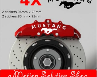 Ford Mustang brake calipers stickers