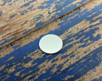 "3/4"" x 5/8"" Oval Aluminum Stamping Blanks - 16G Aluminum"