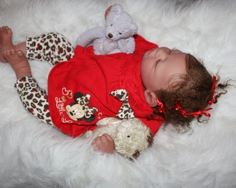 "Lifelike Reborn Baby Doll Realistic Sleeping Baby Girl One of a Kind Reborn Babies ""Lil Bibby"" Ready to Ship!!"