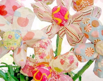 Paper Mache Flowers Made To Order - Size Medium