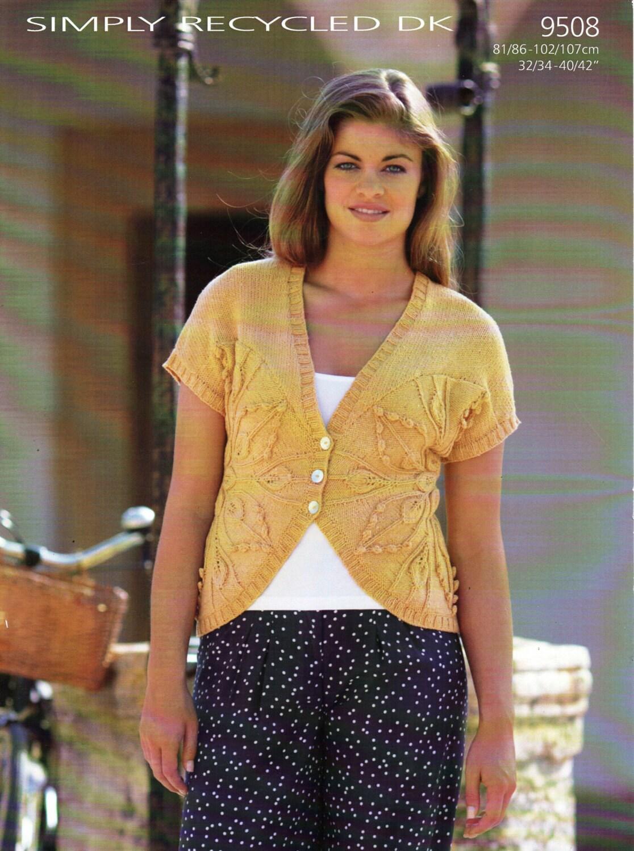 womens short sleeve cardigan knitting pattern pdf download