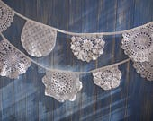 Vintage Doily Bunting
