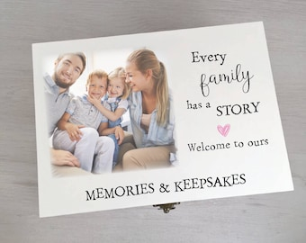 Gorgeous Personalised Every Family Memory Keepsake Box Printed With Your Own Photo Gift Box Memory Box Keepsake Box Memento