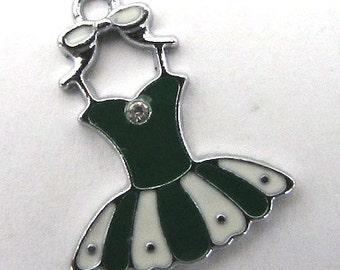 3 Pieces Green Party Dress Charm Pendant