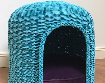 Designer dog house, emerald dog bed, eco house, pet house of paper strips, dog basket, cat basket, dog furniture, pet furniture, Ht
